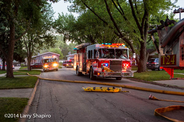 fire engines at a fire scene