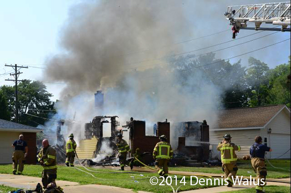 house destroyed by fire from downed power lines