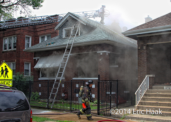 house fire scene in Chicago