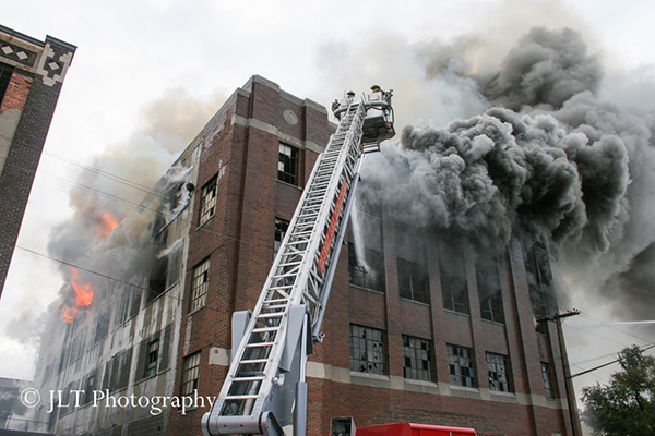 huge warehouse fire in Detroit
