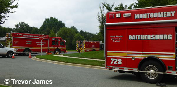 Montgomery County Fire & Rescue fire trucks