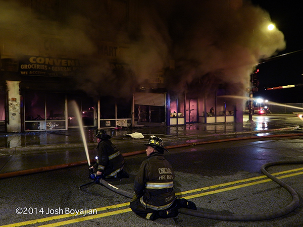 night fire scene with lots of smoke