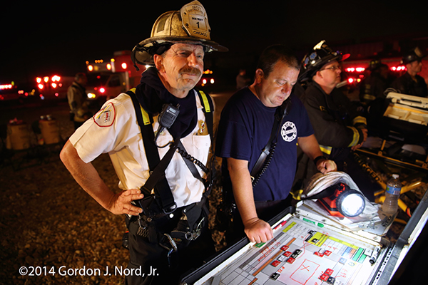 chief fire officer at command post