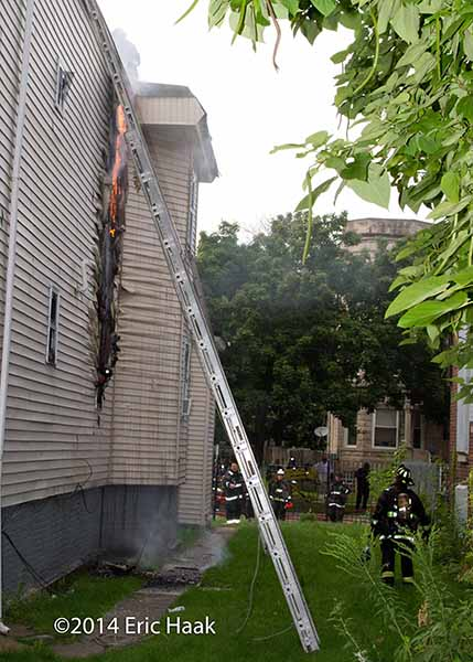 siding melts at house fire