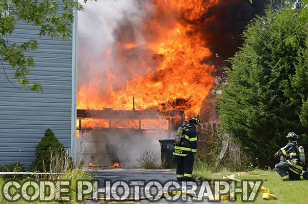 garage fully involved in fire