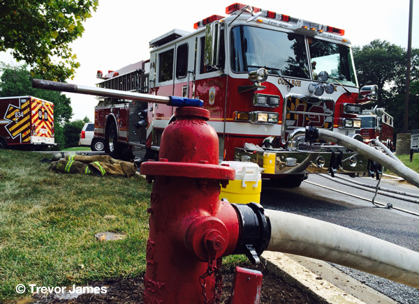 fire engine and fire hydrant