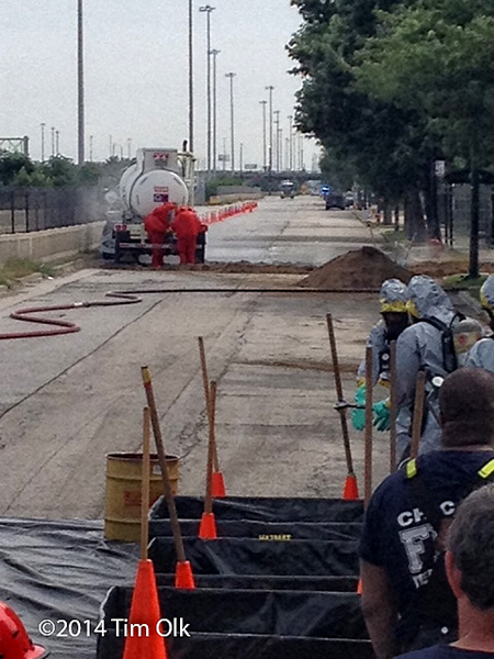 hazardous materials incident in Chicago