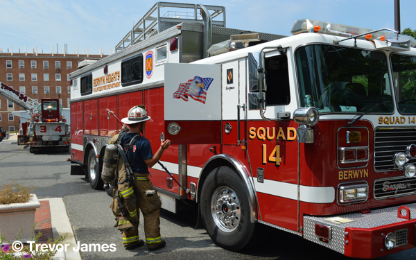 fireman with rescue squad