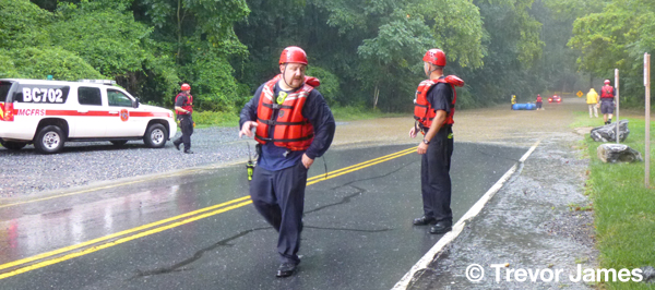 fire department swift water rescue techs