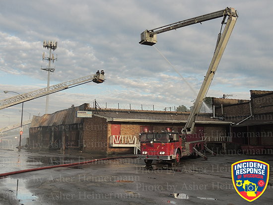 Chicago fire scene photo with Snorkel