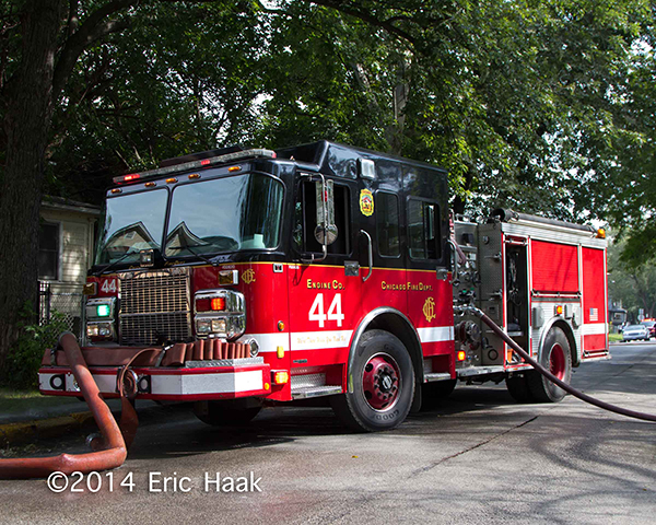 Chicago FD engine at fire scene