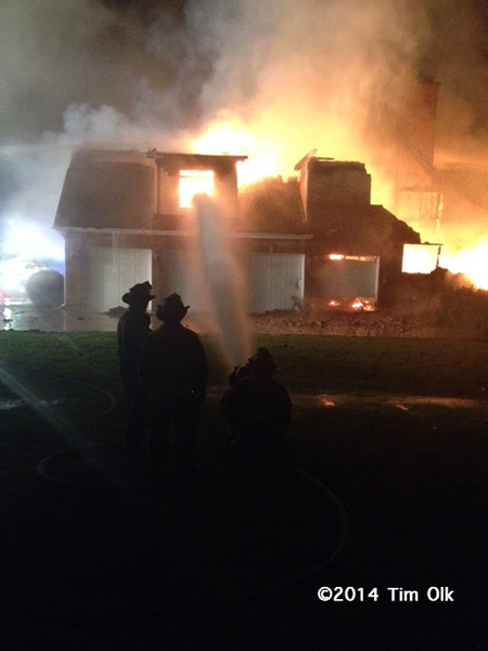 large house destroyed by fire