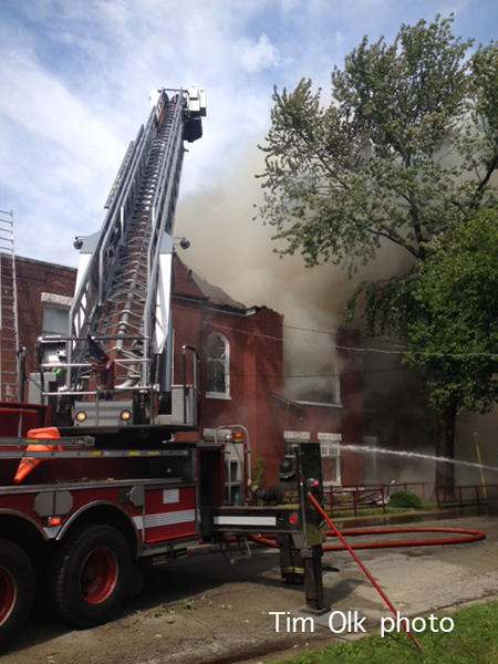 church destroyed by fire in Chicago