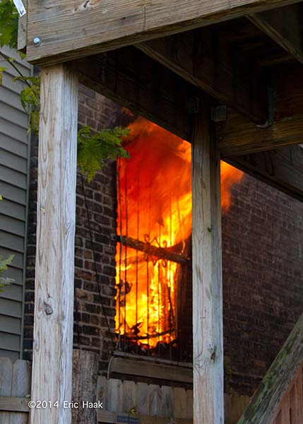 fire through window