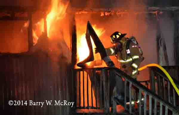 mobile home gutted by fire