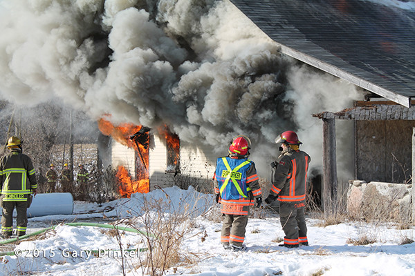 Canadian firefighters training