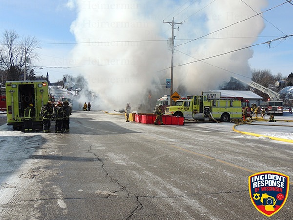 rural water supply operations at winter fire scene