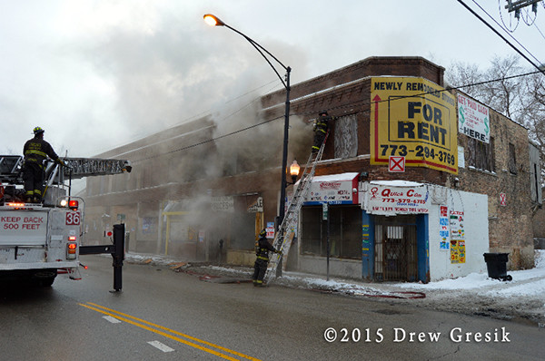 storefronts on fire