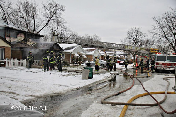 winter house fire