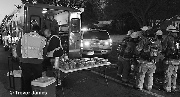 emergency canteen service at fire scene