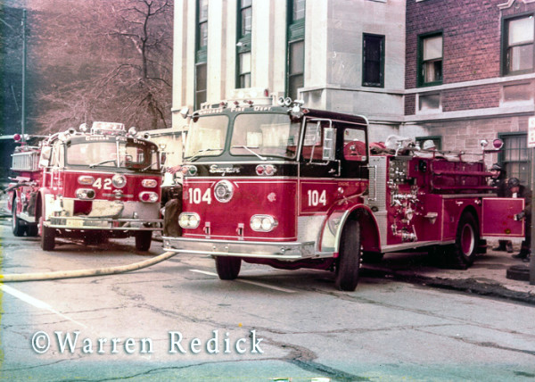 Seagrave fire engine at Chicago fire scene