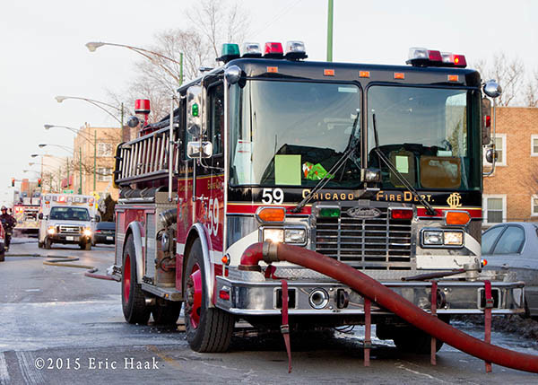 Chicago FD Engine 59 at a fire scene