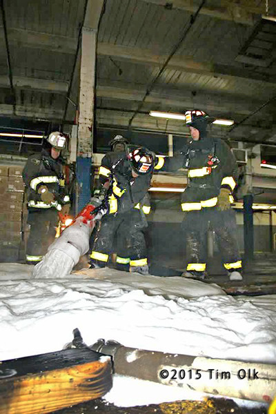 fireman use high expansion foam