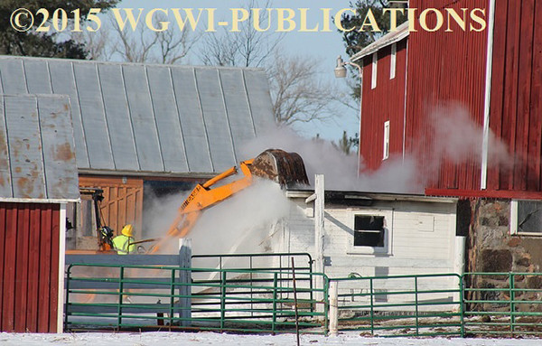 milk house building fire
