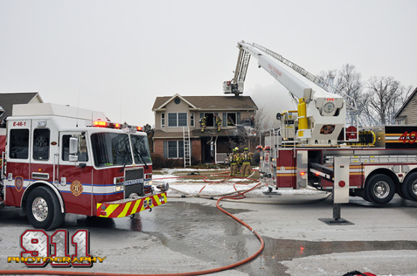 Bronto Skylift at house fire