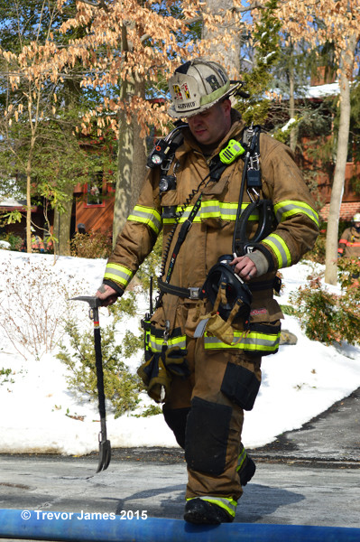 fireman at fire scene with full PPE