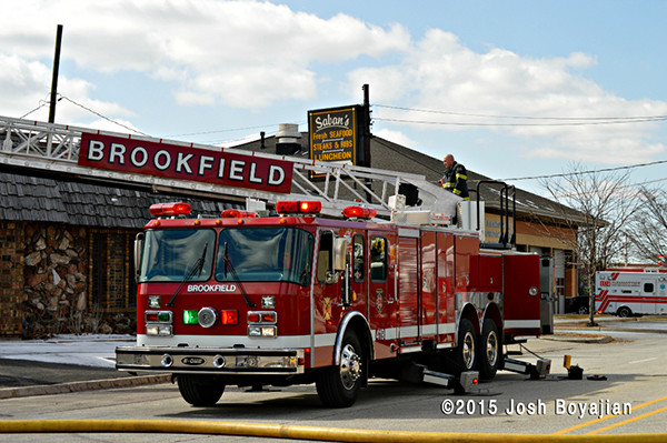 E-ONE fire truck from Brookfield IL