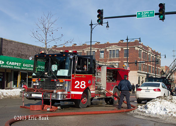 Chicago FD Engine 28 at a fire