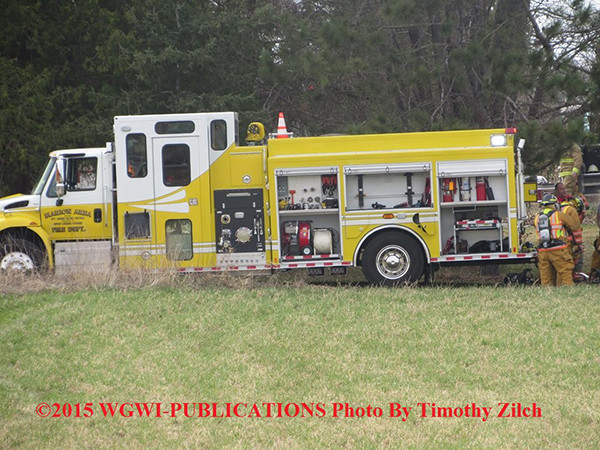 fire truck with enclosed pump panel