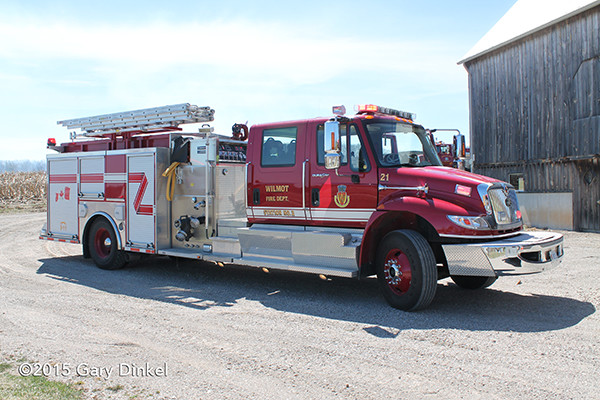 New Dundee Fire Department fire engine