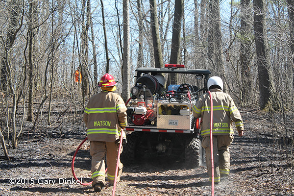 fire department AWD ATV at brush fire