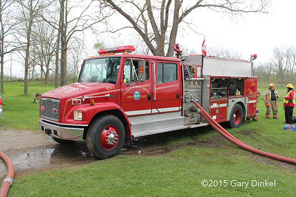 Freight liner fire engine in Canada