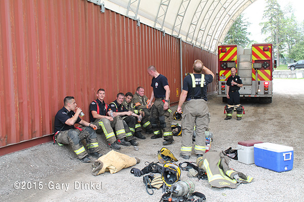 rehab for firemen at fire scene