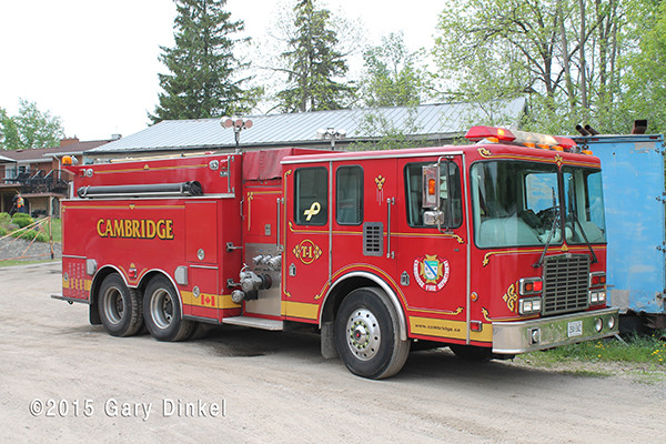 Cambridge Ontario Fire Department water tender