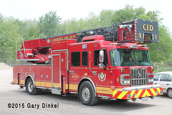 Rosenbauer America Metz tower ladder in Cambridge Ontario