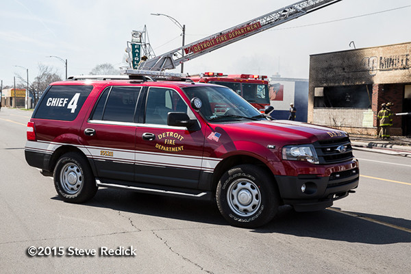 Detroit Battalion Chief car