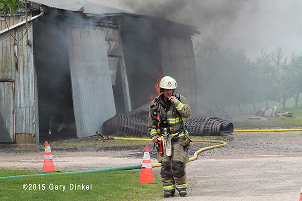 fire chief officer in Canada at fire scene