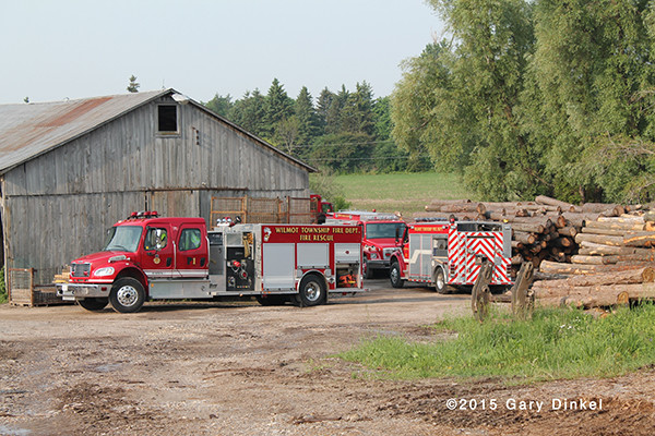 several fire trucks on Freightliner chassis