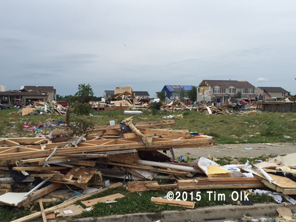 town ravaged by a tornado