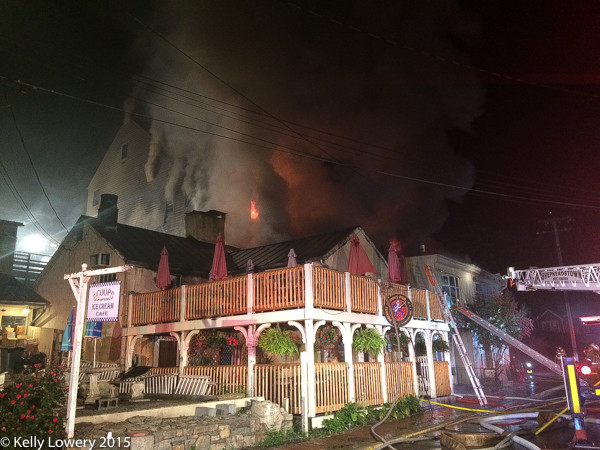 historic building on fire in Virginia