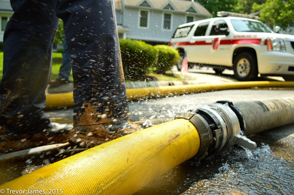 fire hose laying n the street