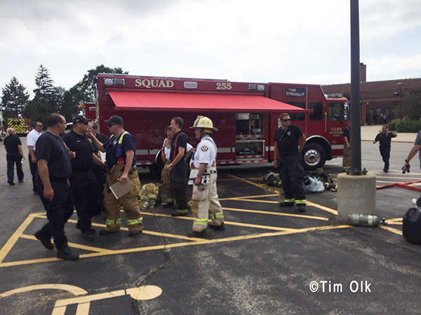 firefighters at a hazardous materials incident