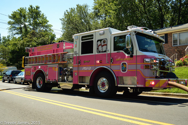 Prince Georges County MD pink fire engine