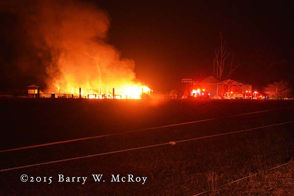 house in rural county destroyed by fire