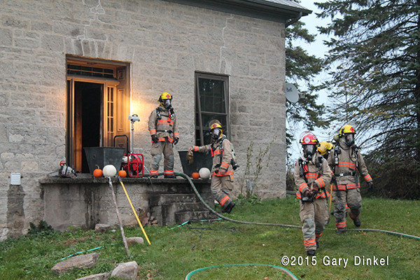 fire in a century-old house