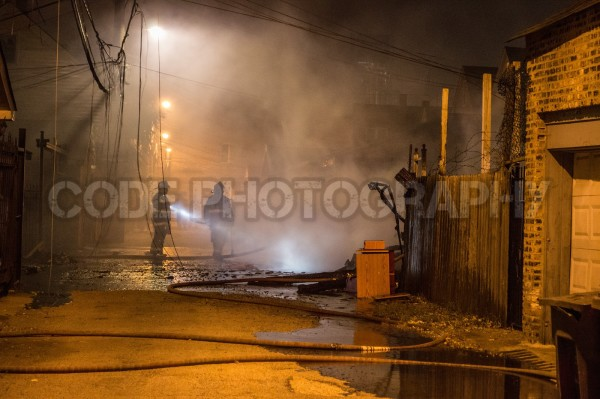 detached alley garage destroyed by fire
